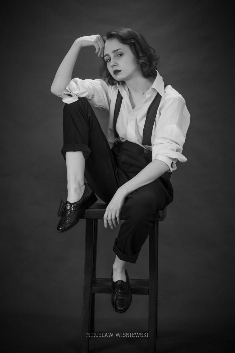 sesja kobieca retro, zdjęcia Mirosław Wiśniewski